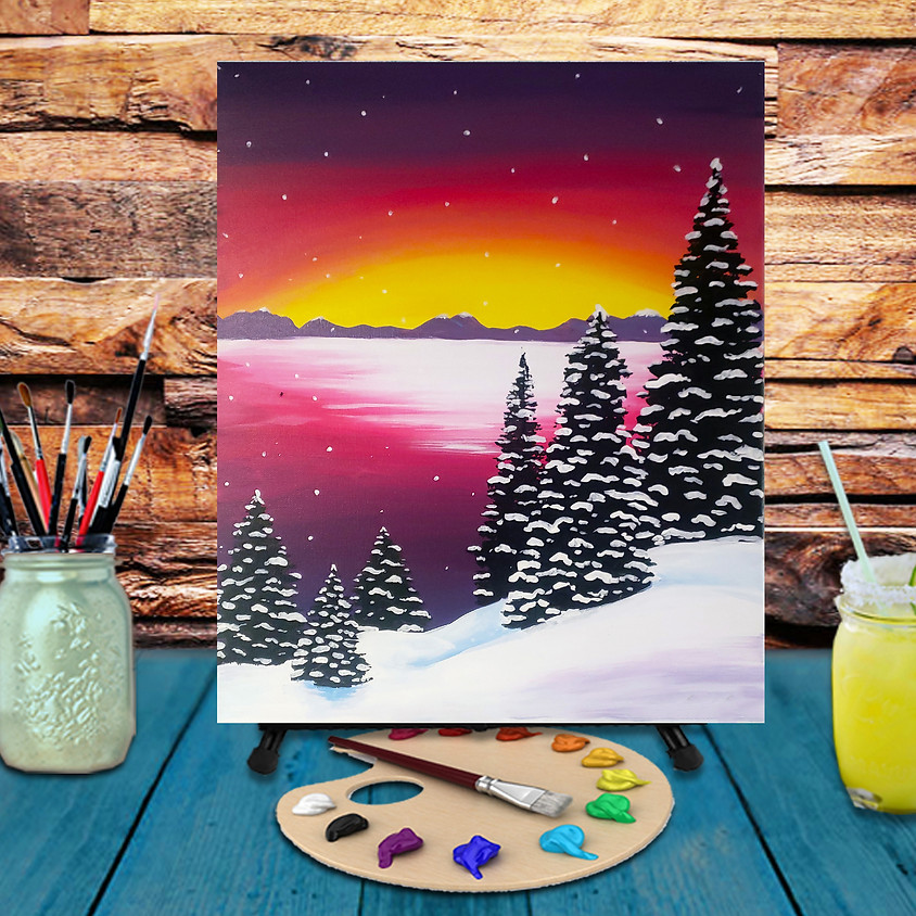 Winter Sunset - Virtual Step by Step Painting Class