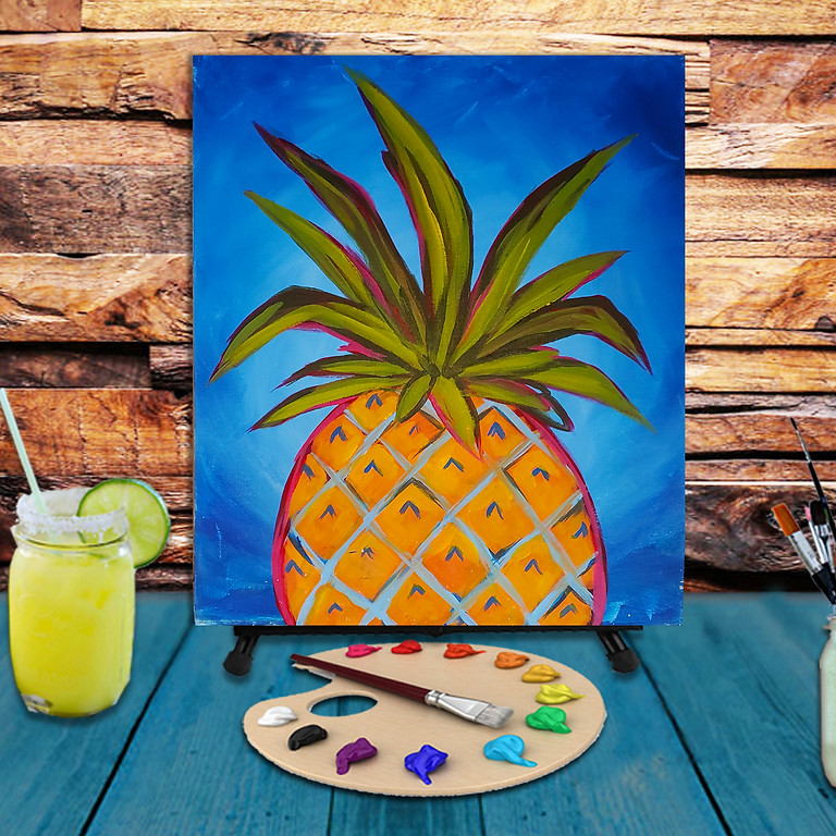 Pineapple -  Step by Step Painting Class
