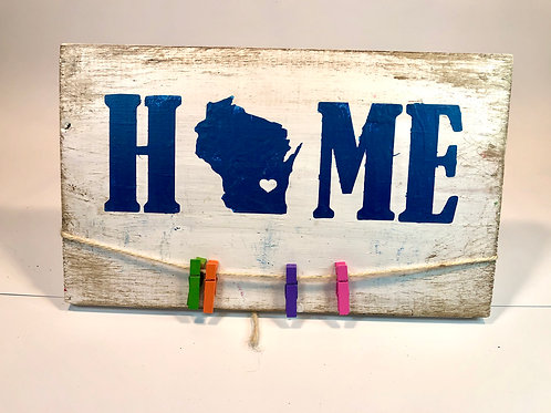 Wisconsin Home Wood Sign Experience