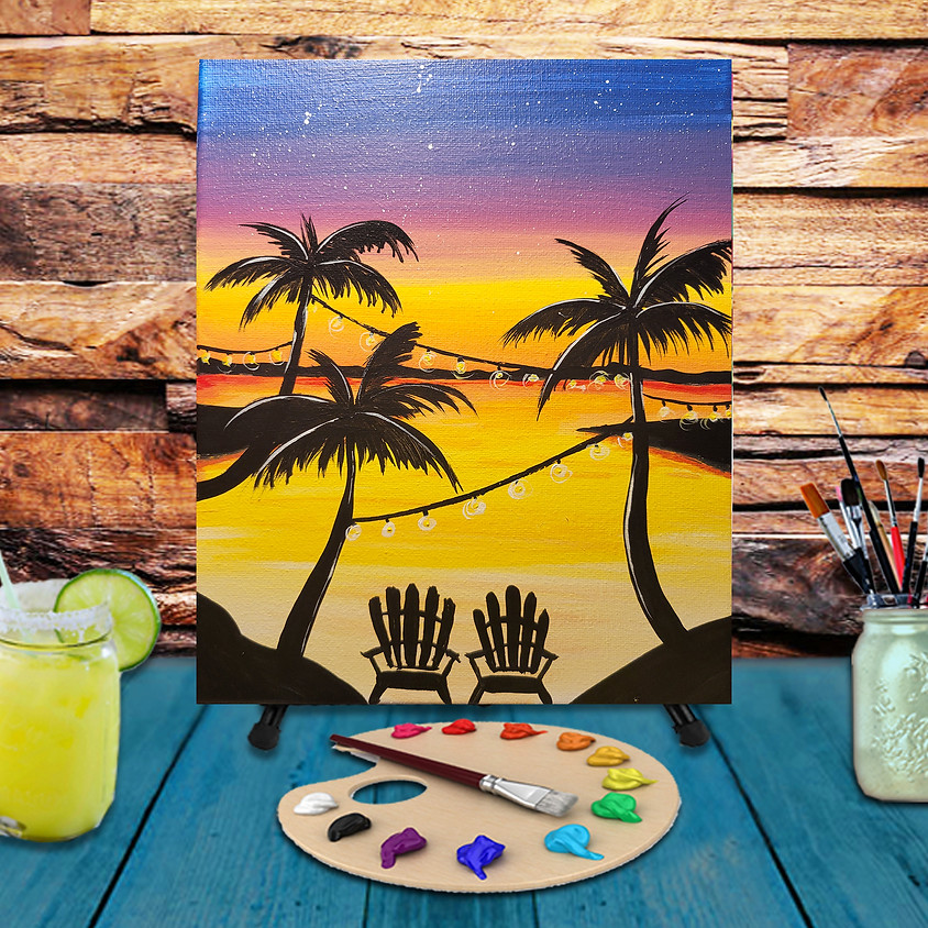 Caribbean Evening - Virtual Step by Step Painting Class