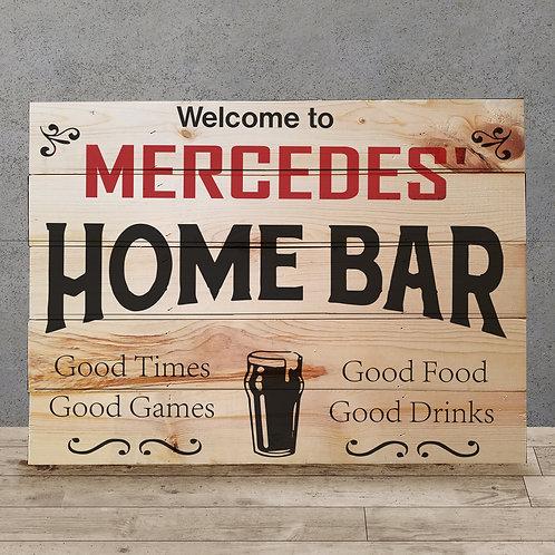 Custom Home Bar - Woodsign Making Experience