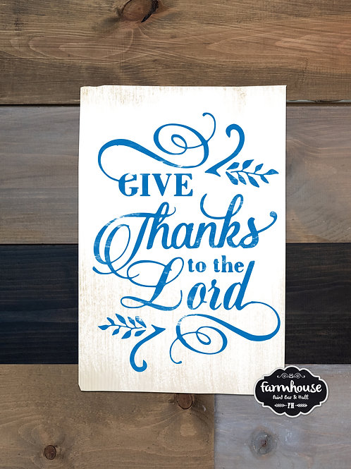 Give Thanks Wood Experience