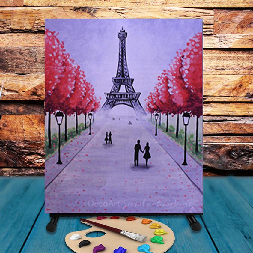 Paris Walk - Virtual Step by Step Painting Class