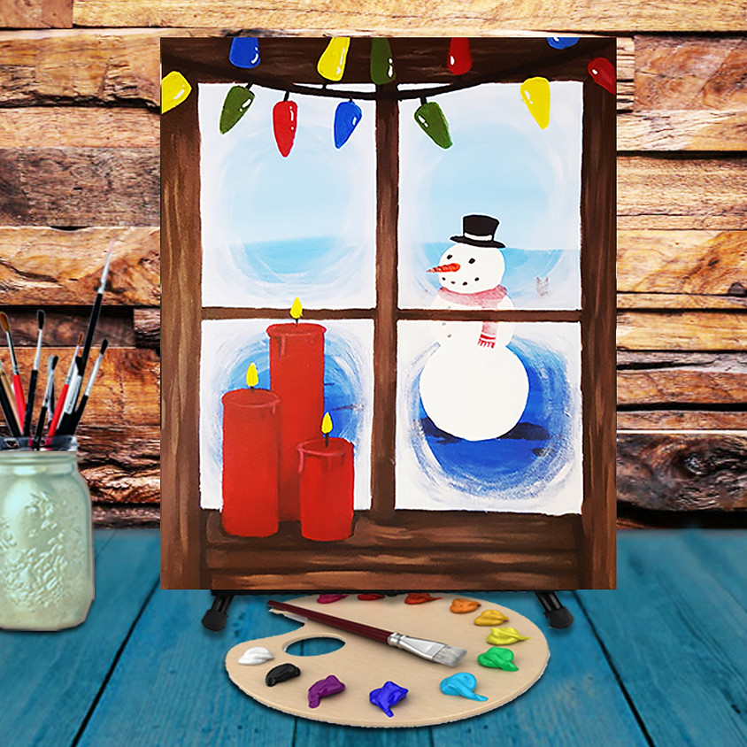 Frosty Window - Virtual Step by Step Painting Class