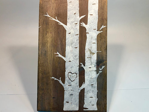 Birch Tree Wood Sign Experience
