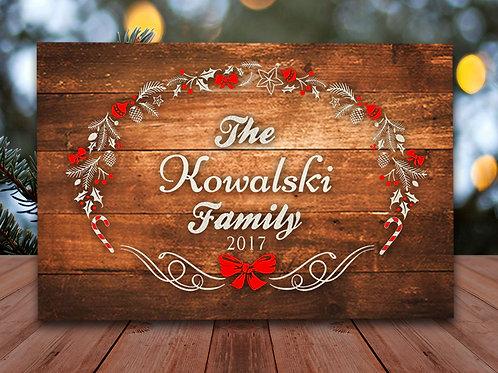 Custom Family Wreath - Woodsign Making Experience