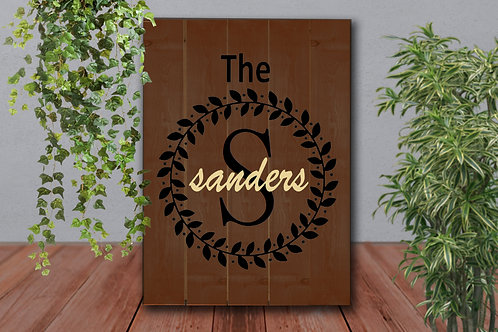 Custom Last Name Circle - Wood Sign Experience