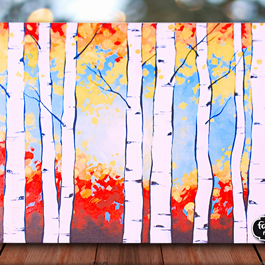 Birch Trees- Plein Air Step by Step Painting Class