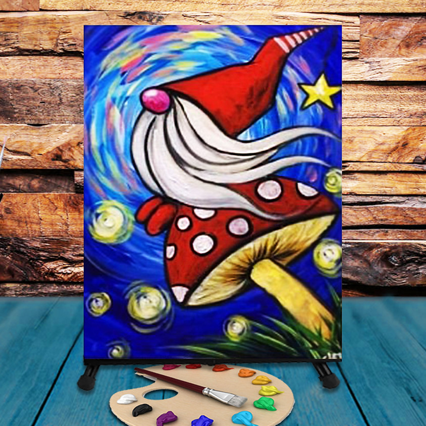 Garden Gnome -  Step by Step Painting Class