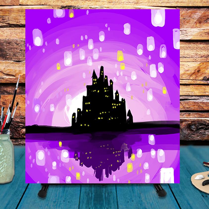 Sky Lanterns - Virtual Step by Step Painting Class