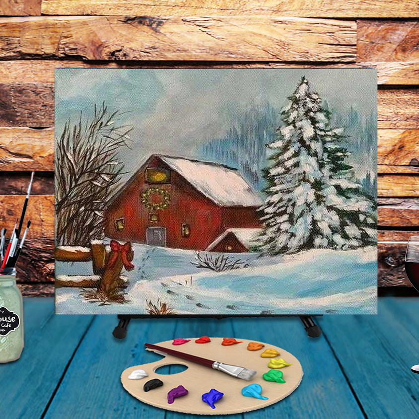 Red Winter Barn - Virtual Step by Step Painting Class
