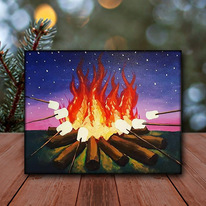 Campfire - Virtual Step by Step Painting Class