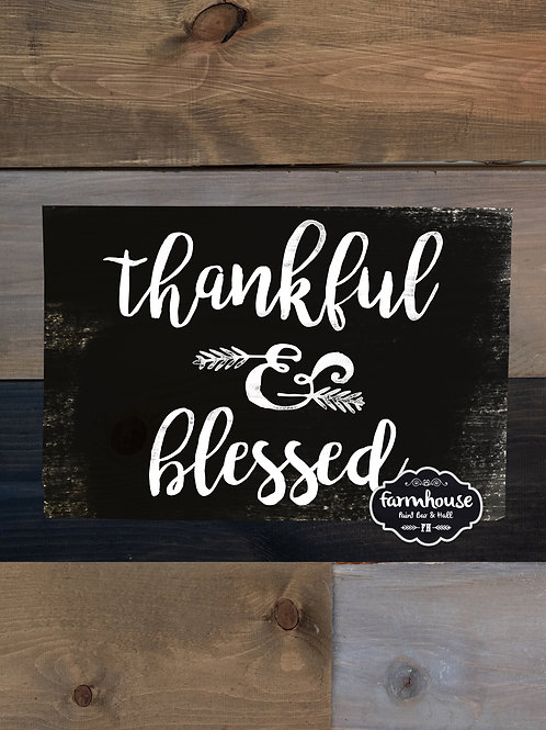Thankful and Blessed - Wood Sign Experience