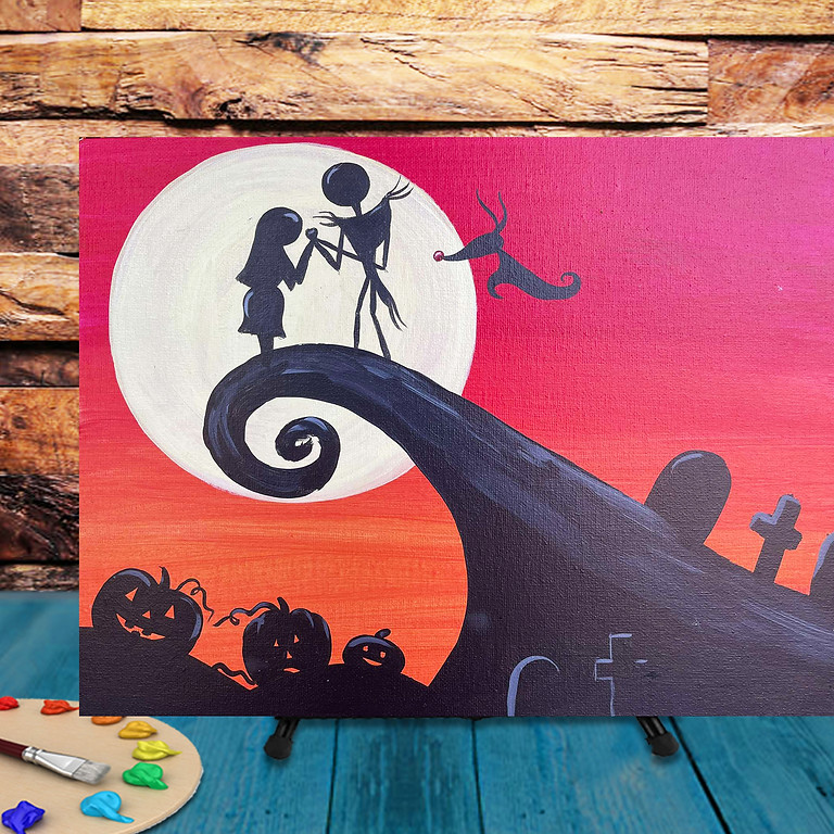 Jack & Sally -  Step by Step Painting Class