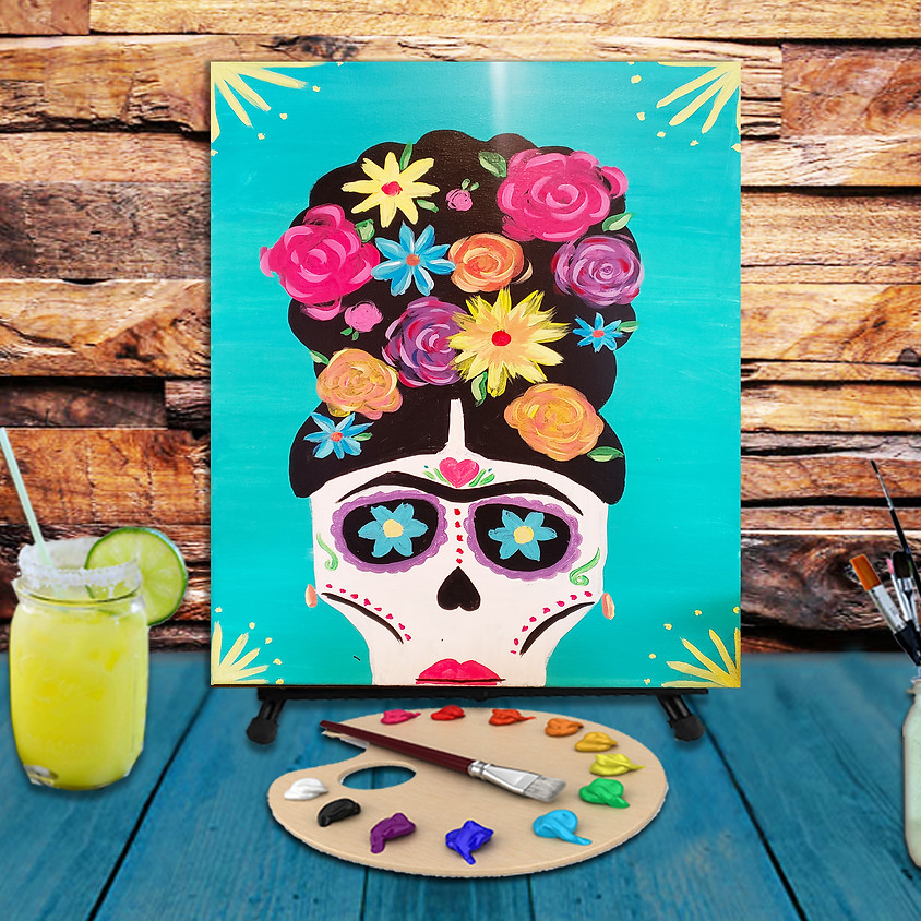 Frida Skull - Step by Step Plein Air Painting Class
