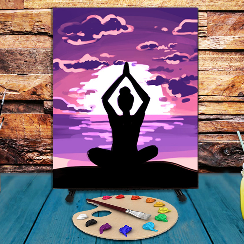Yoga - Virtual Step by Step Painting Class