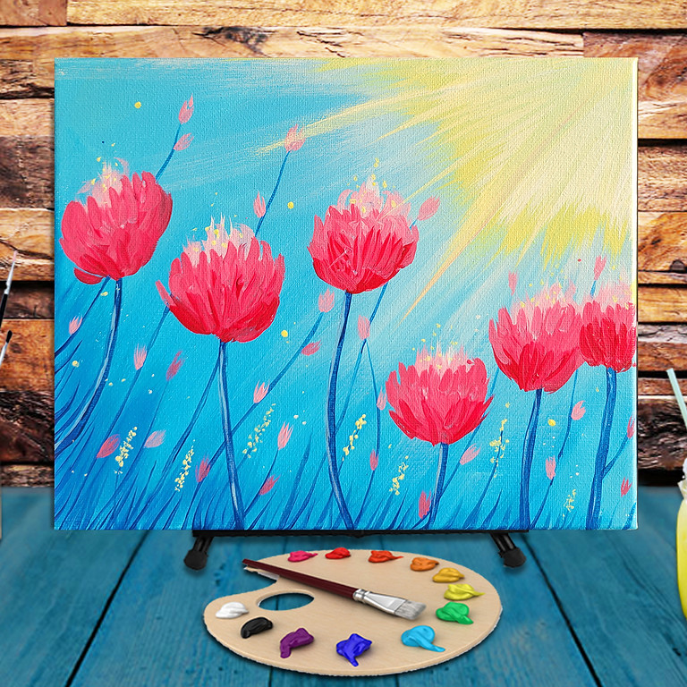 The Sun is Bright -  Step by Step Painting Class