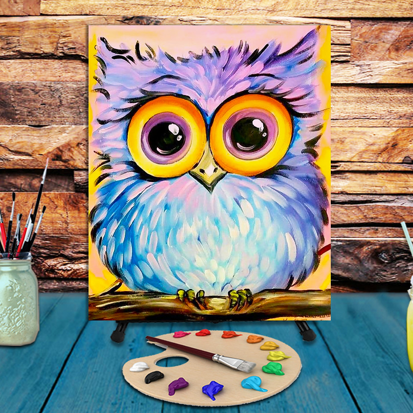Mr. Big Eyes - Virtual Step by Step Painting Class