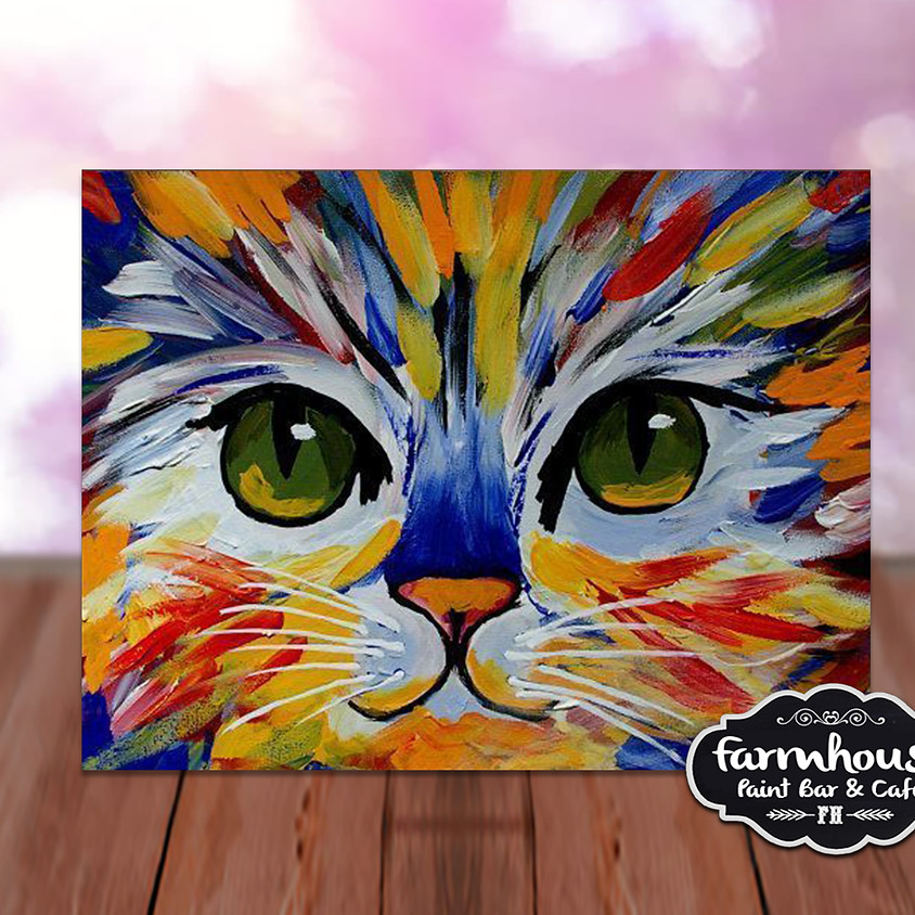 Colorful Cat- Step by Step Plein Air Painting Class