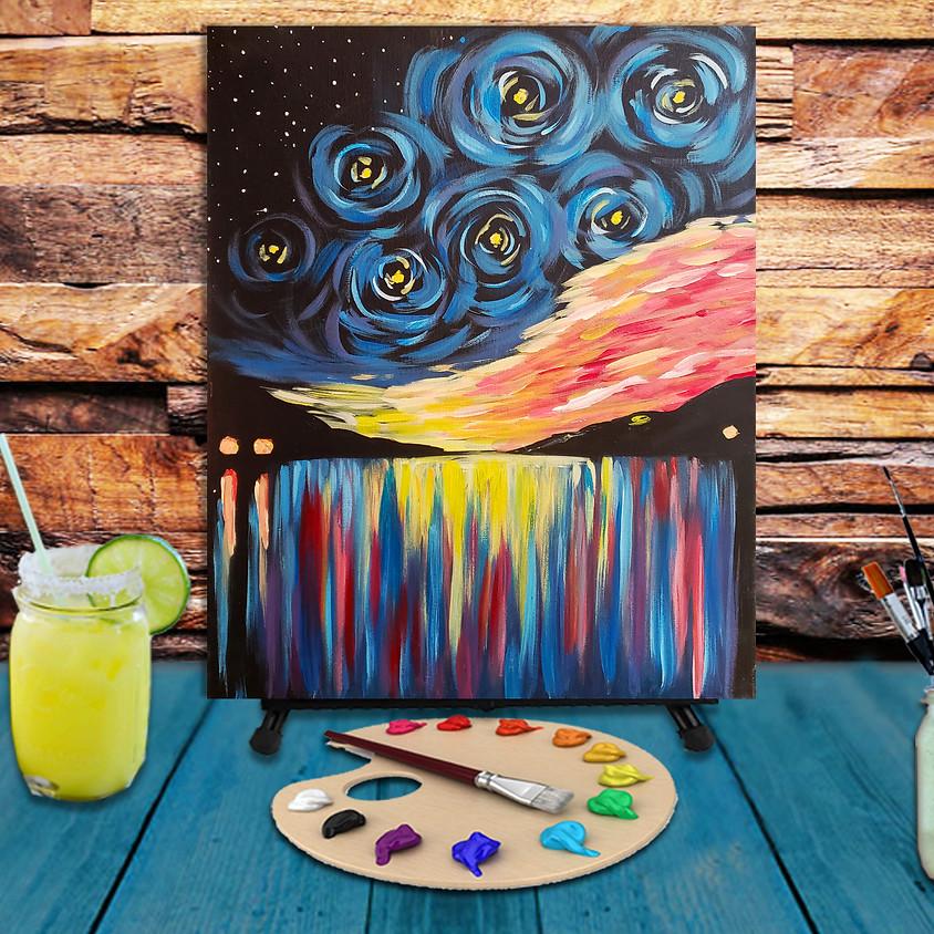 Night Waterfall - Virtual Step by Step Painting Class