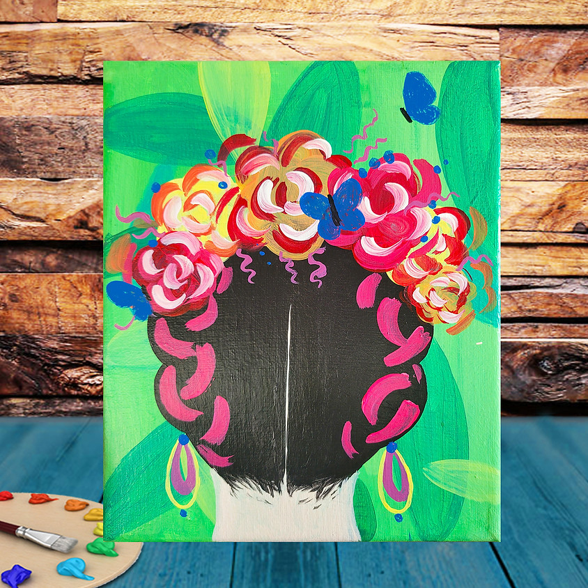 Frida's Hairstyle -  Step by Step Painting Class