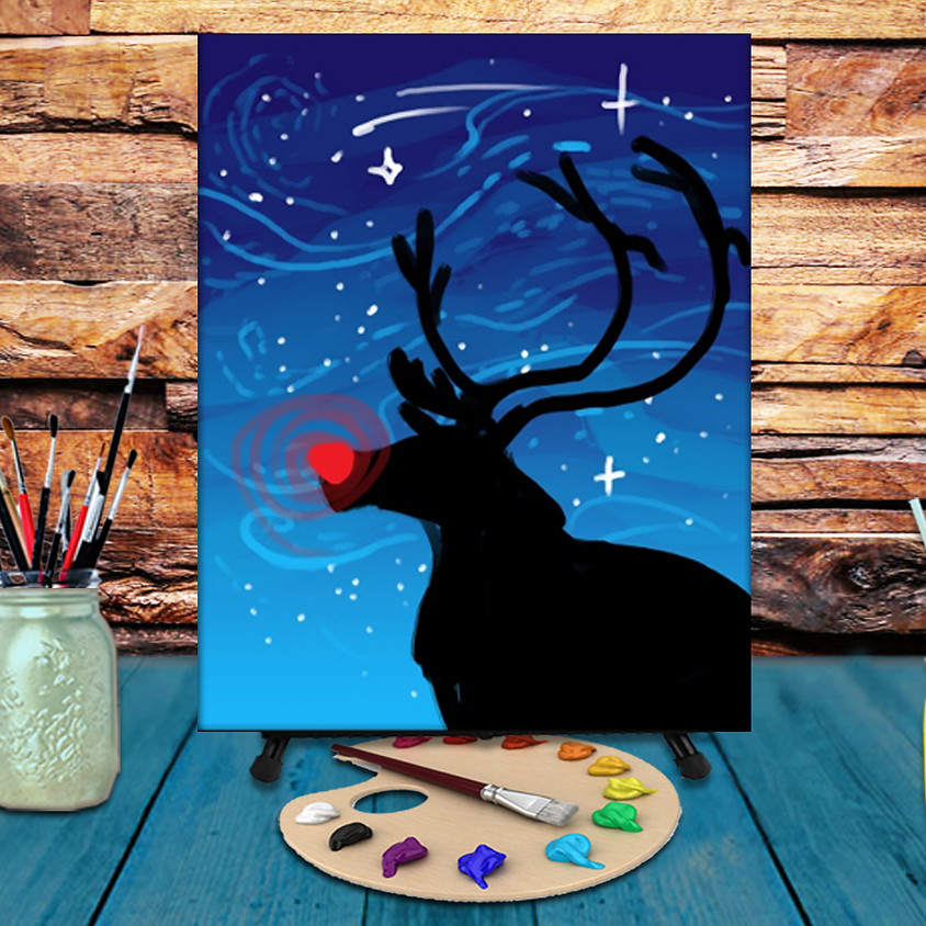 Rudolph - Virtual Step by Step Painting Class