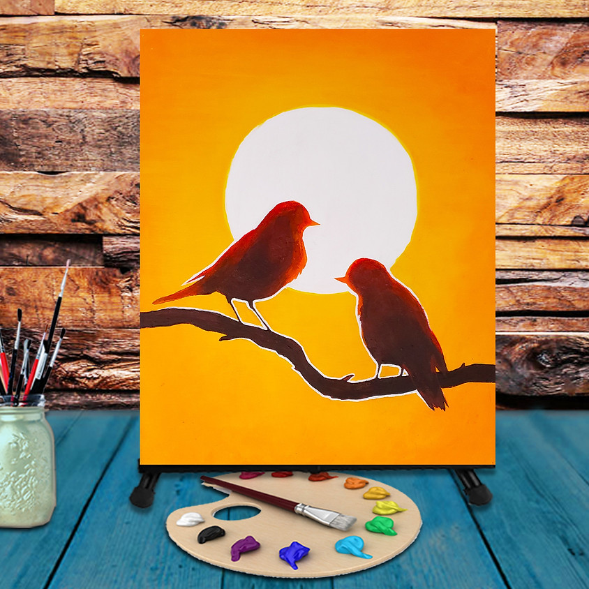 Bird Sunset - Virtual Step by Step Painting Class