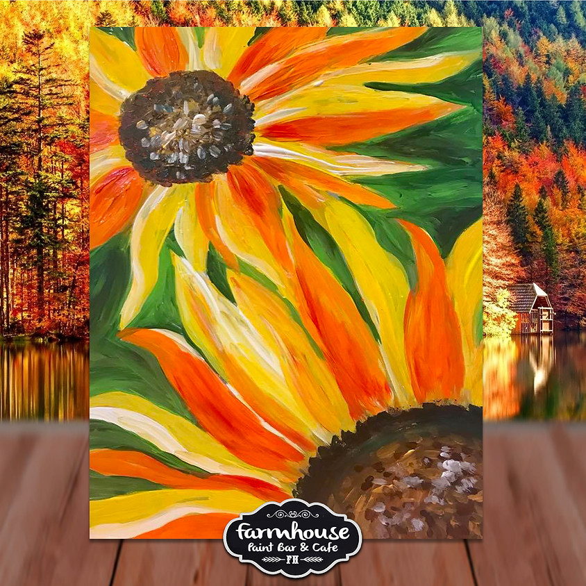 Two Sunflowers - Virtual Painting Class