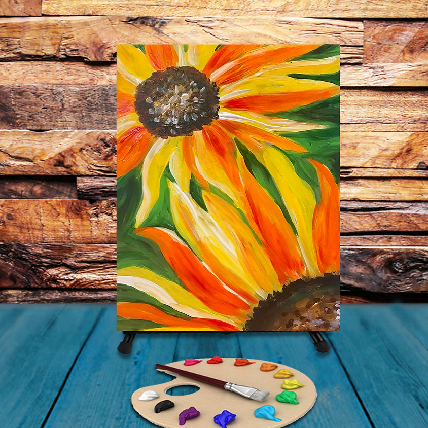 Two Sunflowers - Virtual Step by Step Painting Class