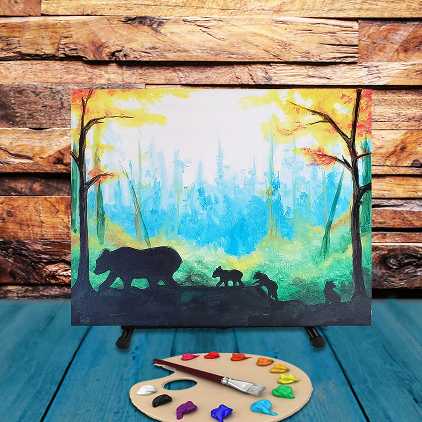 Mamma Bear - Virtual Step by Step Painting Class