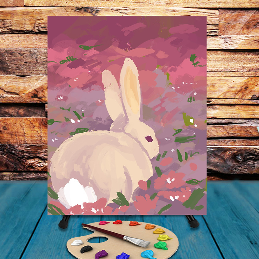Bunny in Field -  Step by Step Painting Class