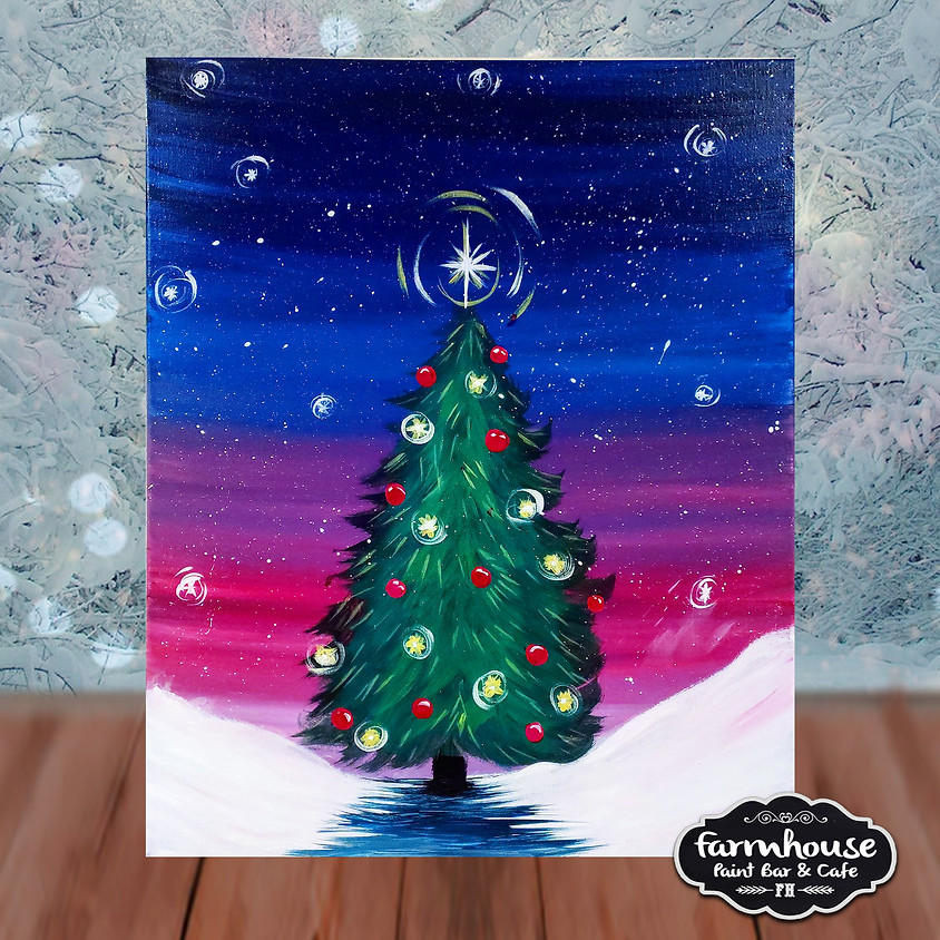 Christmas Tree - Step by Step Painting Class