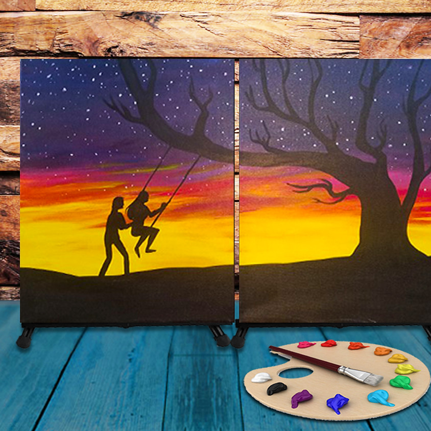 Couple's Virtual Date - Step by Step Painting Class - First Date