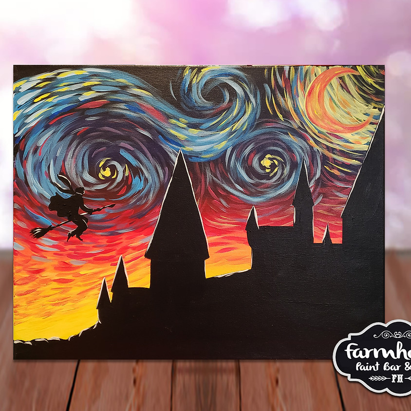 Wizzard's Night - Step by Step Painting Class
