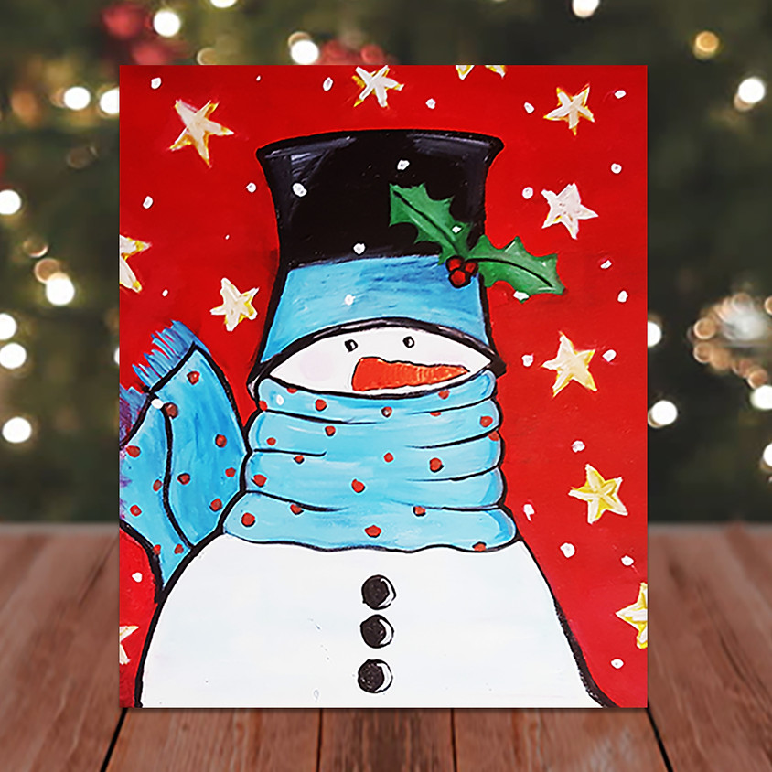 Fashion Snow Man - Virtual Step by Step Painting Class
