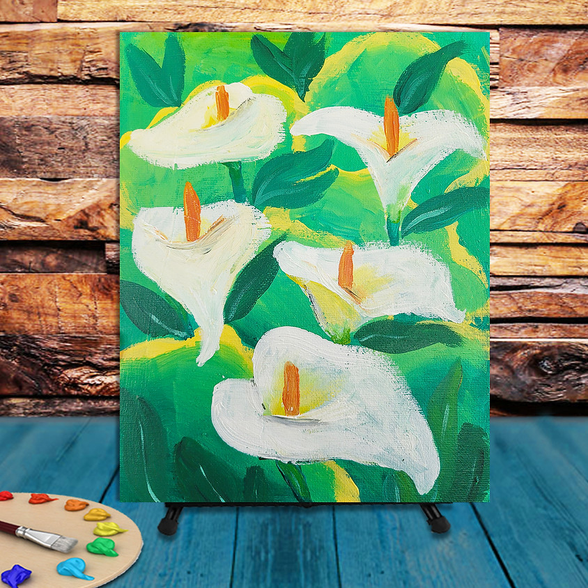 Calla Lilys -  Step by Step Painting Class