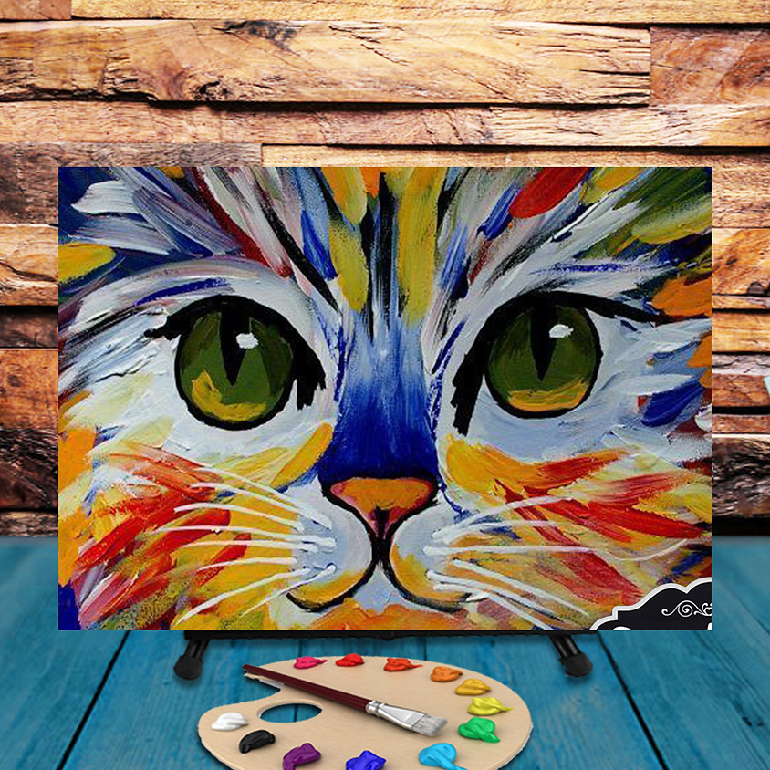 Colorful Cat -  Step by Step Painting Class