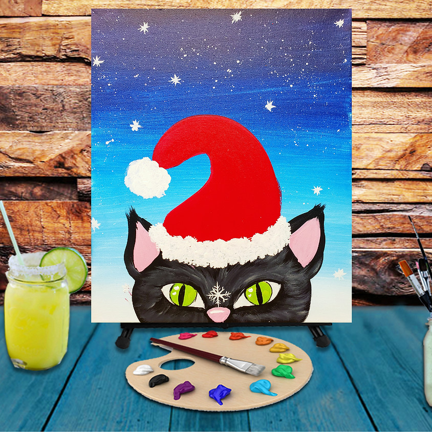 Kitty's First Snow - Virtual Step by Step Painting Class