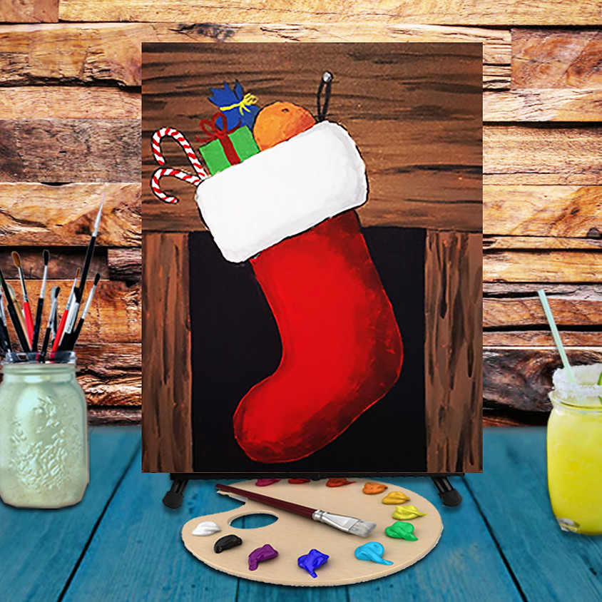 Christmas Stocking - Virtual Step by Step Painting Class