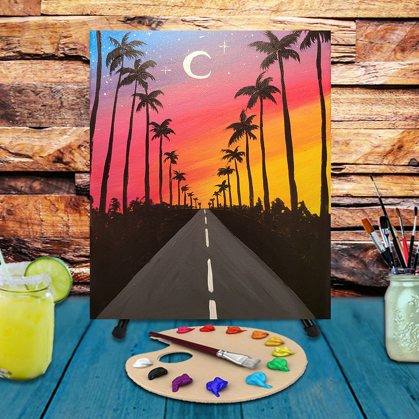 Tropical Road -  Step by Step Painting Class