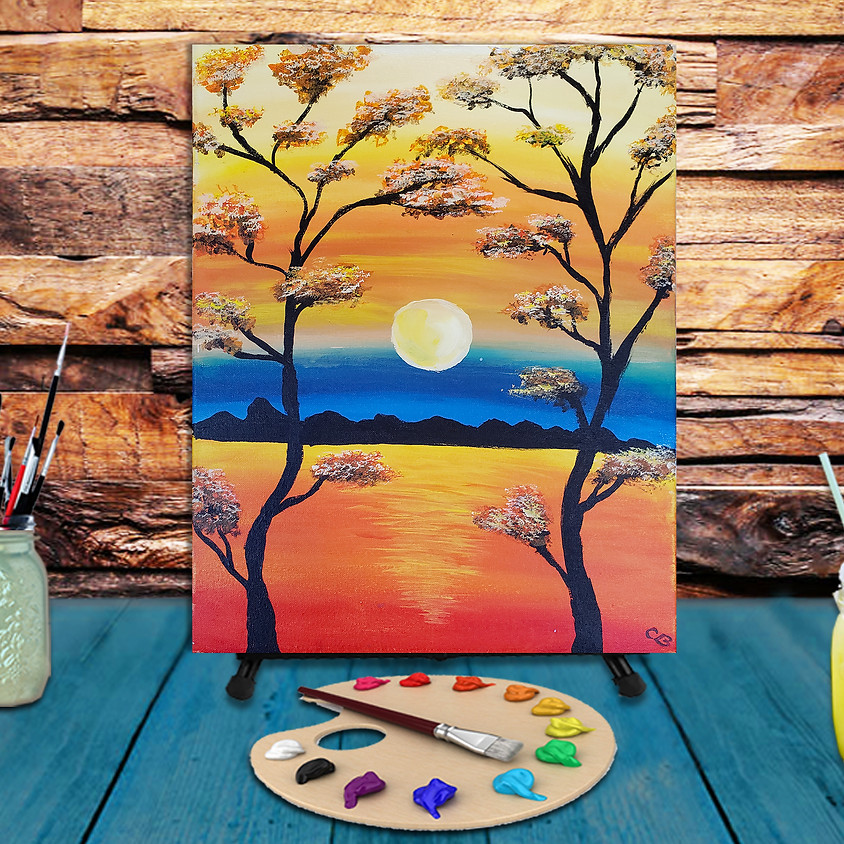 Lake Sunrise - Step by Step Painting Class