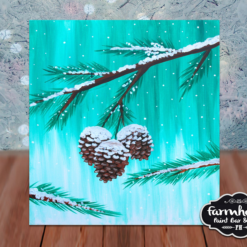Pinecones - Step by Step Painting Class
