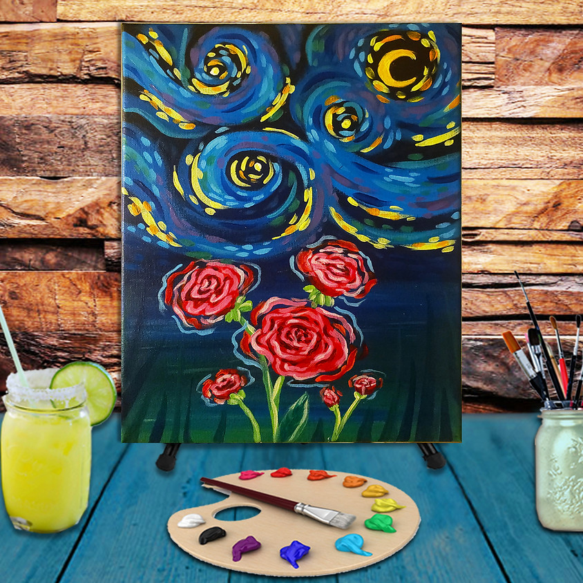 Van Gogh Roses - Step by Step Painting Class