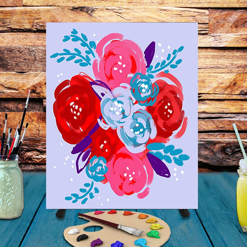 Flower Bouquet - Virtual Step by Step Painting Class