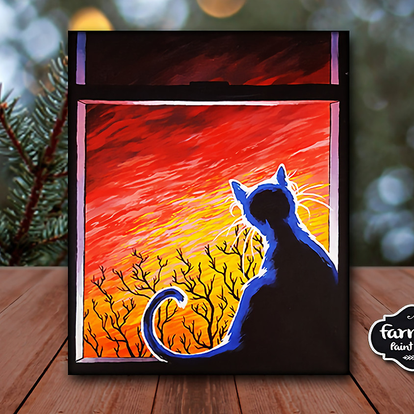 Cat in Window - Step by Step Painting Class