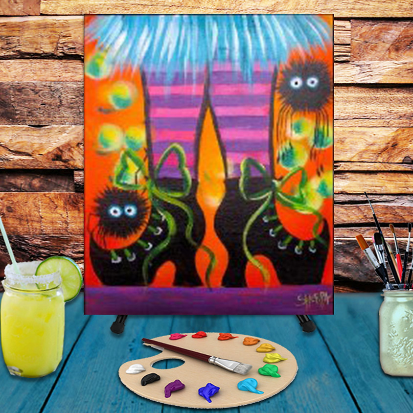 Witchy Shoes -  Step by Step Painting Class
