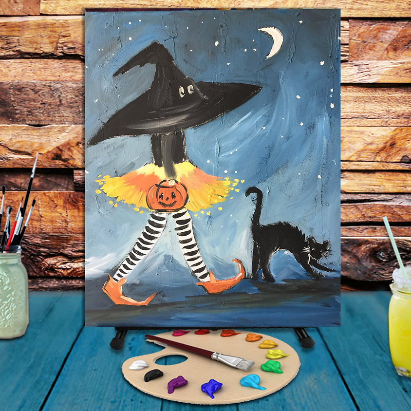 Trick or Treat - Virtual Step by Step Painting Class
