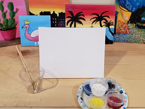 "8""x""10 Canvas Painting Kit"