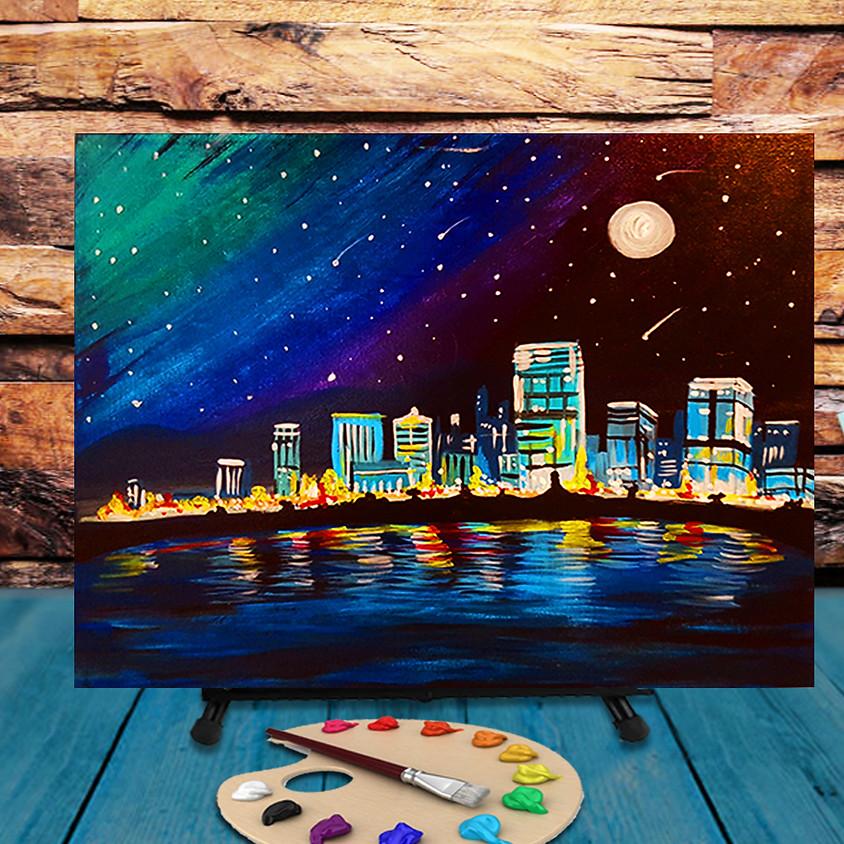 Milwaukee Skyline - Virtual Step by Step Painting Class
