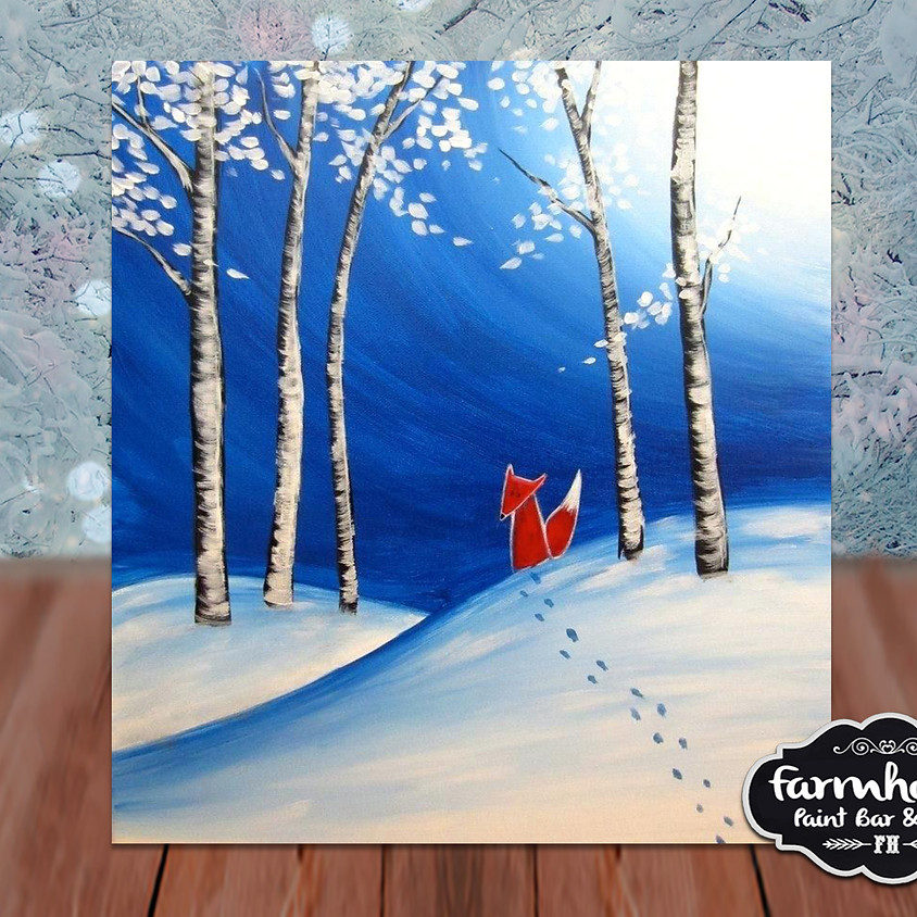 Fox's Snow Day - Virtual Step by Step Painting Class
